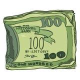 Vector Cartoon Bundle of Money Royalty Free Stock Image