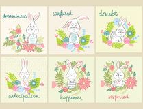 Vector cartoon bunny Stock Photo