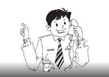 Vector cartoon business man Stock Images