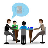 Vector - Cartoon business man meeting information - Vector illustration - EPS10 Royalty Free Stock Photography