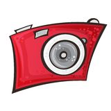 Vector cartoon camera Royalty Free Stock Photography