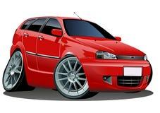 Vector cartoon car royalty free stock photo