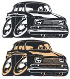 Vector cartoon car Stock Image