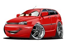 Vector Cartoon Car Stock Images