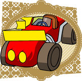Vector cartoon car label Royalty Free Stock Photos