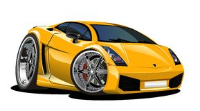 Vector cartoon car Lamborgini Royalty Free Stock Photo