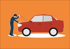 Vector cartoon of car mechanic repairman Royalty Free Stock Photo