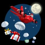 Vector Cartoon Cargo Airplane Stock Images