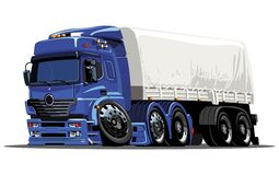 Vector cartoon cargo semi-truck Stock Photography