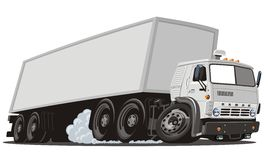 Vector cartoon cargo semi truck Royalty Free Stock Photo