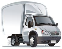 Vector cartoon cargo truck stock images