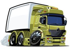 Vector cartoon cargo truck. Availabe ai-10  format without gradients Stock Images