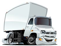 Vector Cartoon Cargo Truck Royalty Free Stock Image
