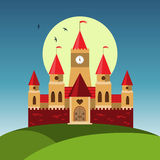 Vector cartoon castle Royalty Free Stock Image