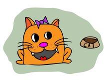 Vector cartoon cat Stock Photos