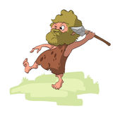 Vector Cartoon Caveman Royalty Free Stock Photo