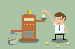 Vector cartoon of Change idea to money Royalty Free Stock Photos