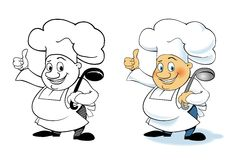 Vector cartoon character chef Stock Images