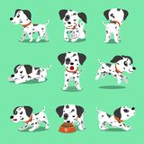 Vector cartoon character dalmatian dog poses. For design Royalty Free Stock Images