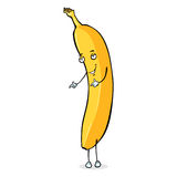 Vector Cartoon Character - Dancing Banana Stock Images