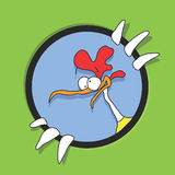 Vector cartoon chicken Stock Photo