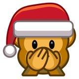 Cartoon Christmas Emoji Isolated On White Background. Vector Cartoon Christmas Emoji Isolated On White Background Royalty Free Stock Image