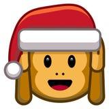 Cartoon Christmas Monkey Isolated On White Background. Vector Cartoon Christmas Monkey Isolated On White Background Stock Image
