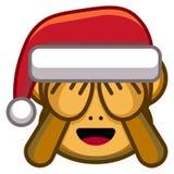 Cartoon Christmas Monkey Isolated On White Background. Vector Cartoon Christmas Monkey Isolated On White Background Stock Photos