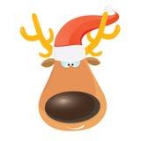 Vector cartoon Christmas reindeer character. Royalty Free Stock Photo