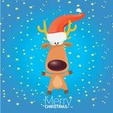 Vector cartoon Christmas reindeer character. Stock Photos