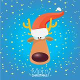Vector cartoon Christmas reindeer character. Stock Images