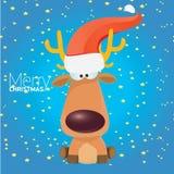 Vector cartoon Christmas reindeer character. Royalty Free Stock Images