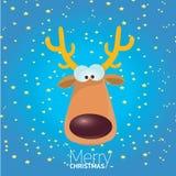Vector cartoon Christmas reindeer character. Royalty Free Stock Image