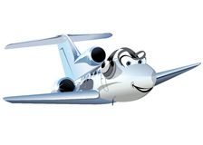 Vector Cartoon Civil utility airplane Royalty Free Stock Photography