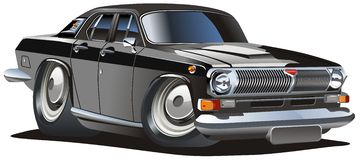 Vector cartoon classic car Royalty Free Stock Photos