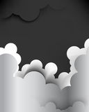 Vector cartoon cloud background Royalty Free Stock Image