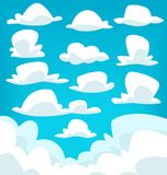 Vector cartoon cloud drawing illustration collection set Stock Image