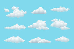 Vector cartoon cloud set Royalty Free Stock Photo