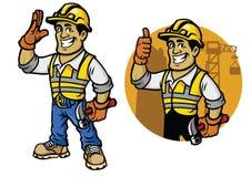 Cartoon of construction worker. Vector of Cartoon of construction worker Royalty Free Stock Photo