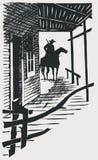 Vector cartoon cowboy western high detail Royalty Free Stock Photos