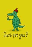 Vector cartoon crocodile Royalty Free Stock Photography