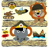 Cute animals soldier Stock Photo