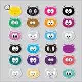 Vector cartoon cute cats set Stock Photo