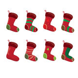 Vector cartoon cute christmas stocking Royalty Free Stock Photography