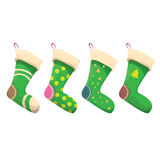 Vector cartoon cute christmas stocking Royalty Free Stock Images