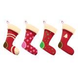 Vector cartoon cute christmas stocking Royalty Free Stock Photos