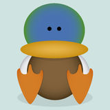 A Vector Cartoon Cute Mallard Sitting Isolated Royalty Free Stock Photography