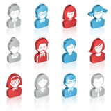 Vector Cartoon 3D Avatars Concept Stock Images