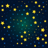 Vector cartoon deep sky with sparkle and glow Stock Photography