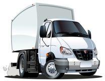 Vector cartoon delivery / cargo truck stock image
